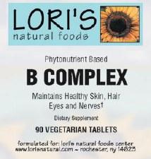 Lori's B Complex 90 vegetarian tablets