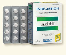 Boiron Acidil Indigestion, 60 tablets