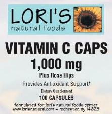 Lori's Vitamin C 1000mg 100 capsules