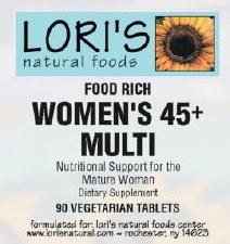 Lori'sI Multi Womens 45+ 90 vegetarian capsules