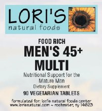 Lori's Mens 45+ Multi 90 vegetarian tablets