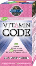 Garden of Life Vitamin Code 50 and Wiser Women's Formula, 120 vegetarian capsules