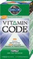 Garden of Life Vitamin Code Family Formula, 120 vegetarian capsules