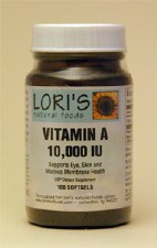 Lori's Vitamin A 10000iu 100 soft-gels