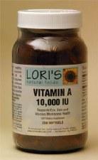Lori's Vitamin A 10000iu 250 soft-gels
