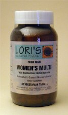 Lori's Women's Multi Food Rich 180 tablets