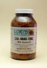 Lori's Cal-Mag-Zinc with Vitamin D 250 vegetarian tablets