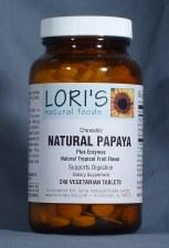 Lori's Enzyme Papaya 240 chewable vegetarian tablets