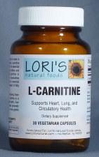 Lori's L-Carnitine 500mg 30 capsules