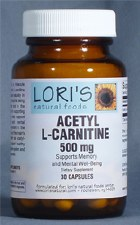 Lori's Acetyl L-Carnitine 500mg 30 vegetarian capsule