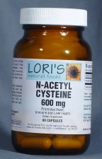 Lori's N Acetyl Cysteine 600mg 60 capsules