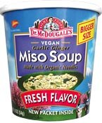 Dr. McDougall's Miso Soup with Organic Noodles Big Cup Vegan 1.9 oz