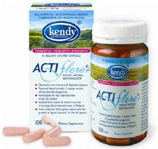 Kendy Actiflora and Synbiotic (Pre-Probiotic), 100 capsules