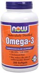 NOW Omega3 1000mg 200 Soft Gels