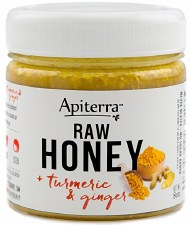 Apiterra Raw Turmeric & Ginger Honey, 8 oz.