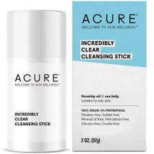 Acure Incredibly Clear Cleansing Stick, 2 oz.