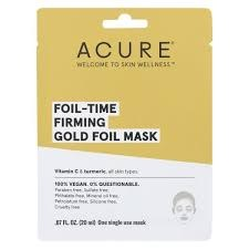 Acure Foil-Time Firming Gold Foil Mask, .67 oz.