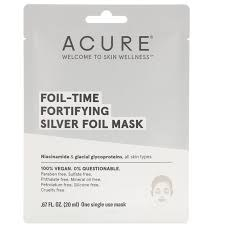 Acure Foil-Time Fortifying Silver Foil Mask, .67 oz.