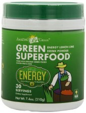 Amazing Grass Energy Lemon Lime Green SuperFood, 7.4 oz.