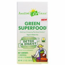 Amazing Grass Detox & Digest Green Superfood, 15 individual serving .25 oz. packets