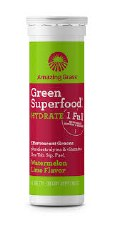 Amazing Grass Hydrate Watermelon Lime Green Superfood, 10 tablets