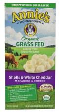 Annie's Homegrown Organic Grass Fed Shells & White Cheddar Macaroni & Cheese, 6 oz.