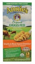 Annie's Homegrown Organic Grass Fed Shells & Real Aged Cheddar Macaroni & Cheese, 6 oz.