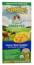 Annie's Homegrown Organic Grass Fed Classic Mild Cheddar Macaroni & Cheese, 6 oz.