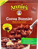 Annie's Homegrown Organic Cocoa Bunnies Oat, Corn and Rice Cereal, 10 oz.