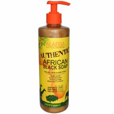 Alaffia Authentic African Black Soap - Peppermint 16 fl oz