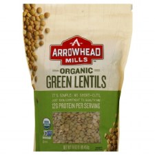 Arrowhead Mills Organic Green Lentils, 16 oz.