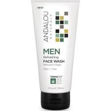 Andalou CannaCell Men Refreshing Face Wash, 6 oz.