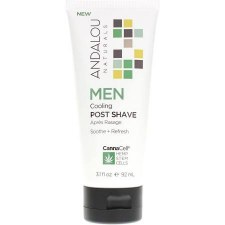 Andalou CannaCell Cooling Men Post Shave Cream, 3.1 oz.