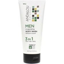 Andalou CannaCell Invigorating Men Body Wash, 8.5 oz.
