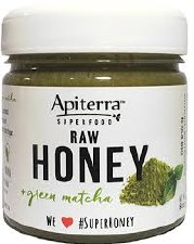 Apiterra Green Matcha Raw Honey, 8 oz.