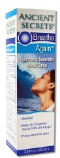 Ancient Secrets Breathe Again Hypertonic Seawater Nasal Spray, 3.38 oz.