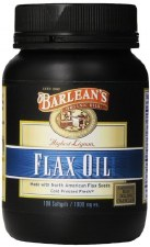 Barlean's High Lignan Flax Oil, 1000mg, 100 soft gels