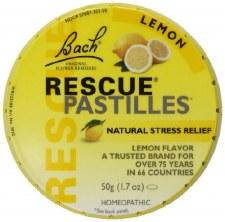 Bach Remedies Rescue Remedies Lemon Pastilles, 1.7 oz.