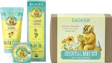 Badger Balm Essentials Baby Set, 3 piece