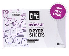 Better Life Unscented Dryer Sheets, 80 sheets