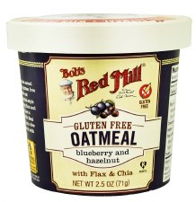 Bob's Red Mill Blueberry and Hazelnut Gluten Free Oatmeal Cup with Flax & Chia, 2.5 oz.
