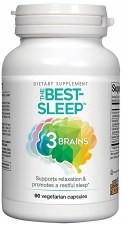 Natural Factors 3 Brain Best Sleep, 90 vegetarian capsules