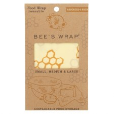 Bee's Wrap Assorted Food Wrap, 3 pack