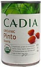 Cadia Organic Pinto Beans, 15 oz.