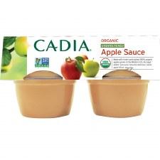 Cadia Organic Unsweetened Applesauce, 4 pack of 4 oz. single servings