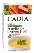 Cadia Organic Free-Range Low Sodium Chicken Broth, 32 oz.