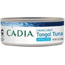 Cadia Unsalted Chunk Light Tongol Tuna, 5 oz.