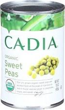 Cadia Organic Sweet Peas, 15 oz.