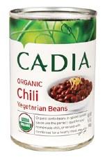 Cadia Organic Vegetarian Bean Chili, 15.5 oz.