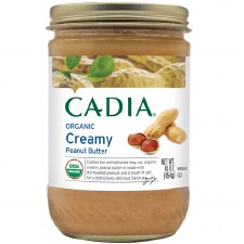 Cadia Organic Creamy Peanut Butter, 16 oz.